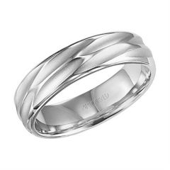 18K White Gold Comfort Fit Engraved Band for Her 11-WV7410W