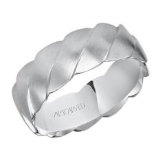 Aiden for Her Platinum Woven Wedding Band 11-WV7457P