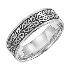 14K White Gold Wedding Band for Her 11-WV9527W7