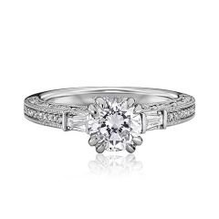 M1870BR510-MM 19K White Gold Engagement Ring from Scott Kay Bridal