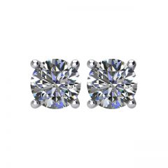 DIAMELIA® Gem 4 Prong Basket Stud Earrings