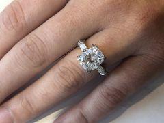 """The Diamelia """"STACY"""" Engagement Ring  (Center Gem Optional)"""