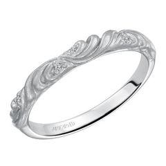 31-V105W-W Gossimer 14K White Gold Wedding Band