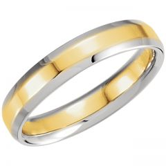 14k Comfort Fit Band with Beveled Edge Style GNG-1027