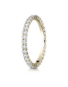 14k Yellow Gold 2mm High Polish Shared Prong Diamond Eternity Ring 55262314KY