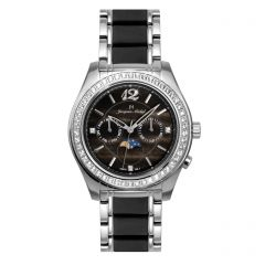 Stainless Steel Moonphase Multifunction 5 ATM Jacques Michel Watch Style# JM-12084