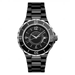 High Tech Ceramic 5 ATM Jacques Michel Diver's Watch Style# JM-12100