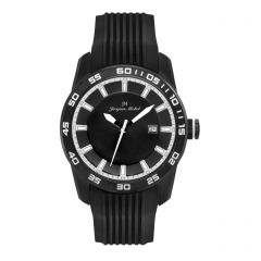 Black IP Plated Stainless Steel  10 year lithium battery 10 ATM Jacques Michel Watch Style# JM-12157