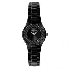 Black IP Plated Stainless Steel Carbon Fiber Dial 3 ATM Watch by Jacques Michel Style# JM-12183