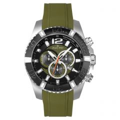 Stainless Steel Swiss Chronograph Carbon Fiber Dial and Luminous Dial and Hands  10 ATM Diver's Watch by Jacques Michel Style# JM-12243