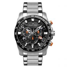 Stainless Steel Swiss Chronograph Luminous Dial and Hands  10 ATM Watch by Jacques Michel Style# JM-12250