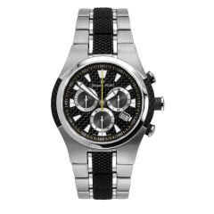 Stainless Steel Swiss Chronograph Carbon Fiber Dial and Luminous Dial and Hands 20 ATM Diver's Watch by Jacques Michel Style# JM-12252