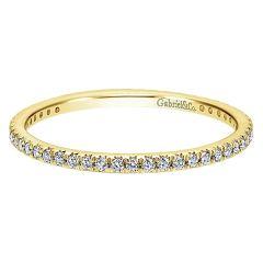 AN11377-Y44JJ Gabriel And Company 14K Yellow Gold Diamond Eternity Band