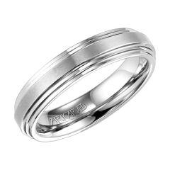 Ladies 5mm Double Beveled White Tungsten Wedding Bands 11-WV2563HC