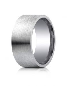 Argentium Silver 10mm Comfort-Fit Satin-Finished Design Band from Benchmark  CF610420SV08