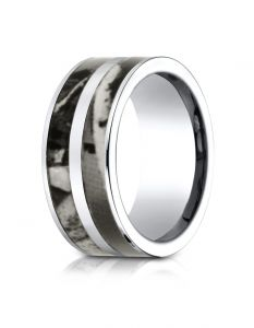 Cobaltchrome™ 10mm Comfort Fit Ring with Hunting Camo Inlay from Benchmark  CF610466CC