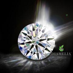 DIAMELIA® Blazing Arrows™ Super Ideal Hearts & Arrows Round Brilliant Cut Lab-Grown Premium Moissanite (SiC)