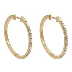 EG10198Y45JJ 14 KT Yellow Gold Diamond Hoop Earrings from Gabriel and Co