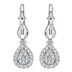 EG11767W44JJ 14K White Gold and Diamond Drop Earrings from Gabriel & Co