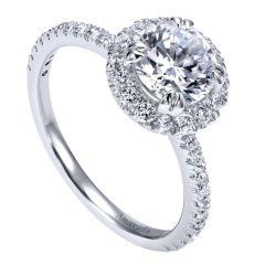 18k White Gold Diamond Halo Ring ER12023R4W83JJ