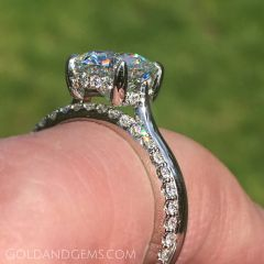 The NINA Platinum Engagement Ring by Gold and Gems Style GNG-111plt