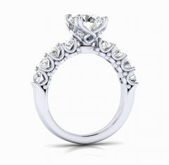 AMOUR Platinum Engagement Ring by Gold and Gems