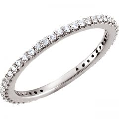Petite Sparkle Diamond Band by Gold and Gems