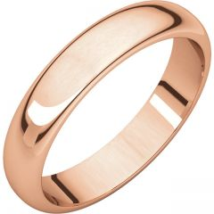 14k Rose 4mm Half Round Band Style GNG-1033
