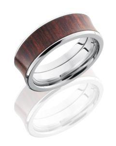 Titanium Concave CocoBollo Wedding Ring - 8mm