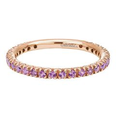 LR4573K4JPS 14K Rose Gold and Pink Sapphire Stackable Ladies' Ring from Gabriel & Co