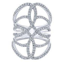 14k White Gold Diamond Fashion Ring LR50652W45JJ