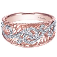 LR6268T45JJ 14K Pink and White Gold Diamond Ring