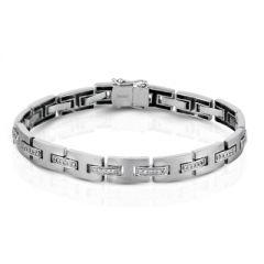 MB1102 Platinum and Diamond Bracelet for Men by Simon G.