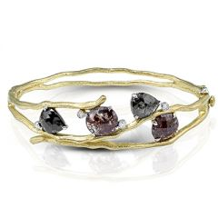 MB1546 18K White and Yellow Gold Diamond Bracelet