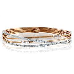 MB1553 18K White and Rose Gold Diamond Bracelet from Simon G