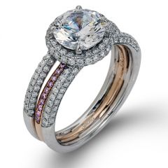 MR1451 18 Karat White and Rose Gold Diamond Engagement Ring from Simon G.