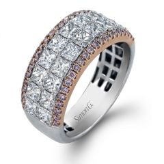 MR1772 Platinum and 18K Rose Gold and Diamond Band from Simon G