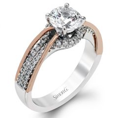 MR2476 Platinum and Rose Gold Diamond Engagement Ring from Simon G