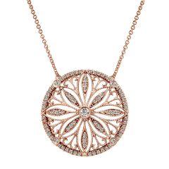 14k Pink Gold Diamond Fashion Necklace NK4858K45JJ