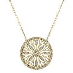 14k Yellow Gold Diamond Fashion Necklace NK4858Y45JJ