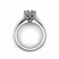 14k White Gold TIFFANI Engagement Ring by Gold and Gems (gem sold separately)