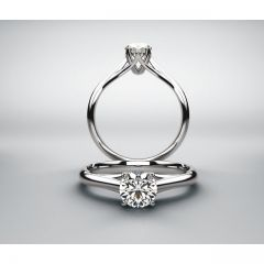 14K Pure White Gold Solitaire Mounting