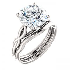 Flow of Infinity Engagement Ring 14KW