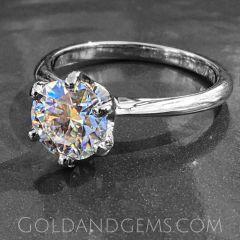 G&G TIFFANI Solitaire Engagement Ring (Gem Optional)