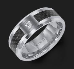 21-2359 Tungsten Carbide Comfort-Fit with Carbon Fiber and Diamond from Triton