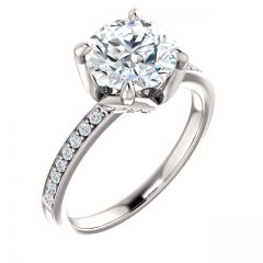 Tulip Round Engagement Ring