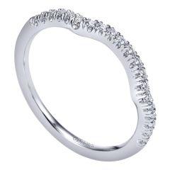 WB10298W44JJ 14k White Gold Diamond Curved Band