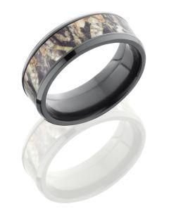 Mossy Oak Camo Zirconium Ring ZCAMO8B15-MOSSYOAK POLISH
